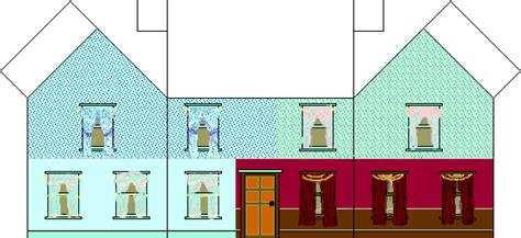 printable paper doll houses printable  degree
