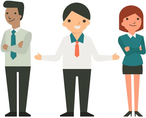 Happy Business Team Cartoon People Concept