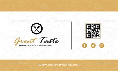 restaurant chef business card design template  psd word