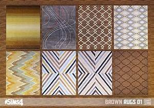 Brown rugs 01 at Oh My Sims 4 » Sims 4 Updates