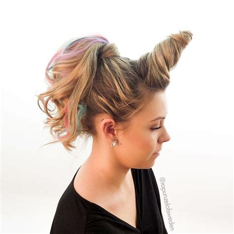 crazy hair hairstyles wacky unicorn long updos days easy hairstyle rainbow latest perfect instagram explore bear vbs trending cute childrens