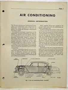 1953 Dodge Passenger Car Air Conditioning Service