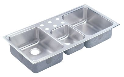 sink in kitchen elkay lustertone lcrq4322 topmount bowl stainless 6930