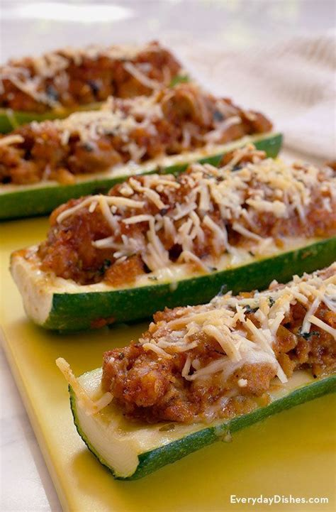 How To Make Zucchini Boats With Chicken by Chicken Sausage Zucchini Boats