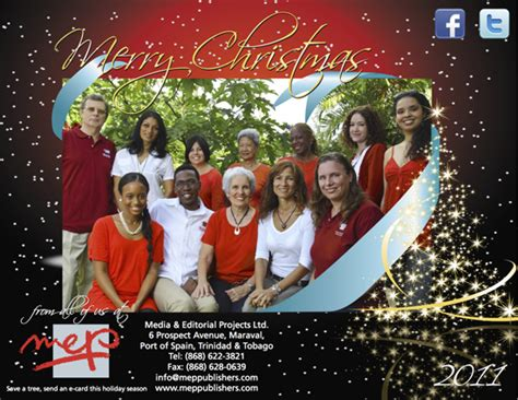 happy holidays from mep see you in 2012 mep caribbean publishers media editorial