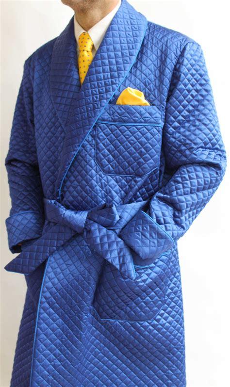 robe de chambre homme cachemire robe de chambre classique pour homme en bemberg matelassé