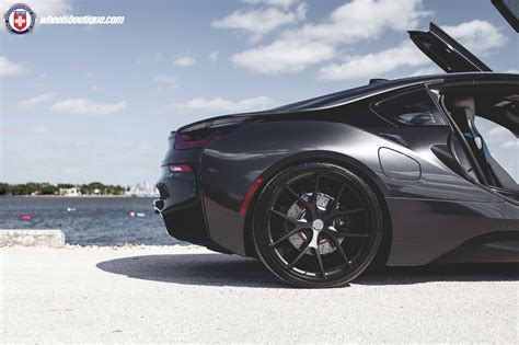 blacked  bmw   stealthy  hre wheels carscoops