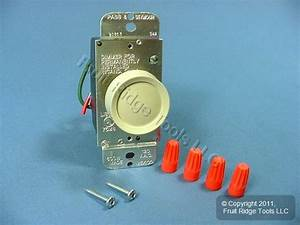 Pass  U0026 Seymour Ivory Rotary Light Dimmer Switch Push On