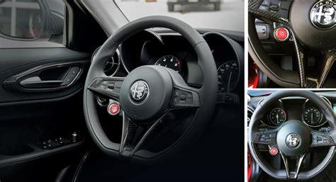 Carbon Fiber Giulia  Stelvio Steering Wheel Trim Koshi