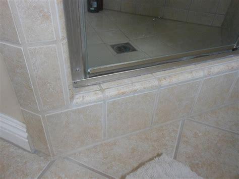 tile   finish tiling   edge   shower