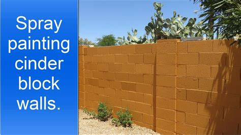 spray painting exterior cinder block walls youtube