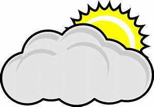 Partly Cloudy With Sun Clip Art at Clker.com - vector clip ...