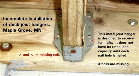 deck joist hangers nails deck joist nails deck design and ideas