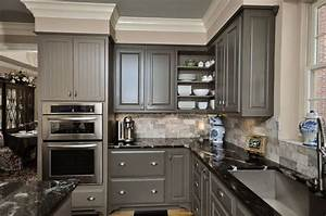 ideas of grey kitchen cabinets for your home interior With kitchen colors with white cabinets with steve mcqueen wall art