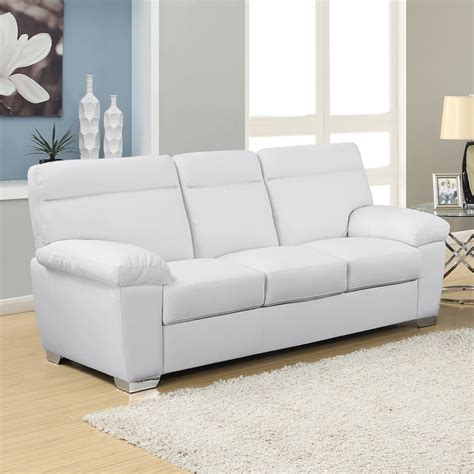 alto modern high back leather sofa collection in white