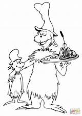 Seuss Coloring Dr Pages Preschool Coloringhome Ham Eggs Printable Sheet Sheets Hat Reading Cartoon Easy sketch template