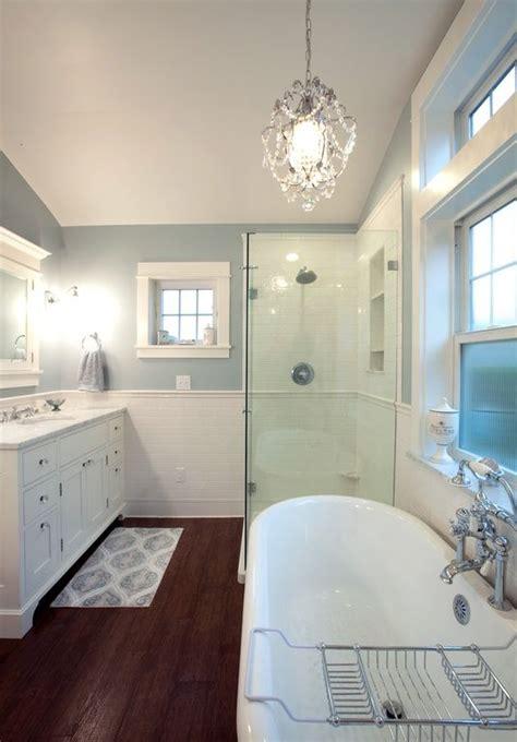 master bathrooms  chandelier lighting
