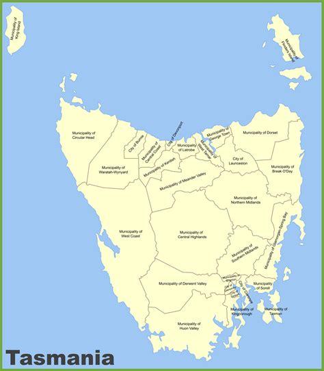 tasmania local government area map