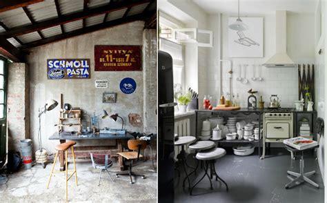 cuisine style loft tabouret de bar industriel la vedette indiscutable dans