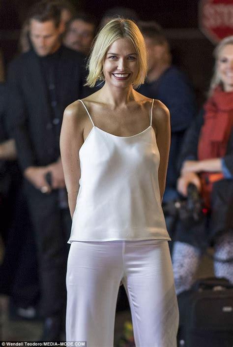 Lara Bingle braless at Tiffany & Co launch party | Daily ...