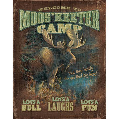 Moose Camp Tin Sign