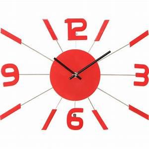 Horloge Murale Rouge : catgorie horloges pendule et comtoise du guide et comparateur d 39 achat ~ Teatrodelosmanantiales.com Idées de Décoration