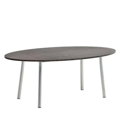 table cuisine 4 pieds table de cuisine ovale en stratifié elli 4 pieds