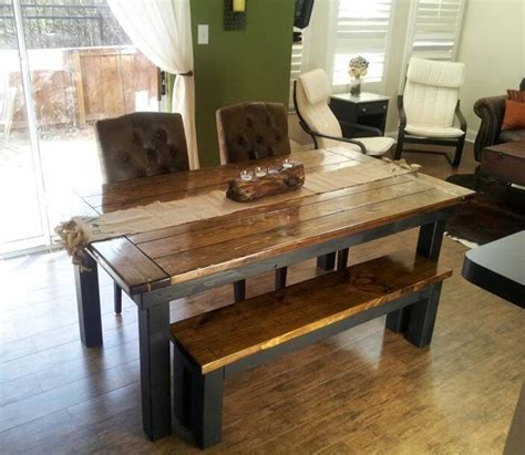 6 farmhouse table in walnut and black