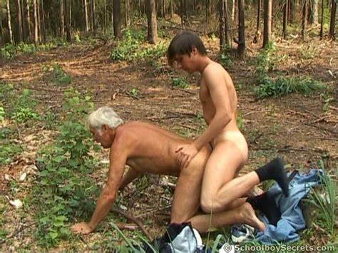 Step Grandpa Can To Shag His Puffy Old Gay Grandpas Penetration By Cousin Stud In The Wood