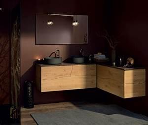 meuble sdb en bois great meuble salle de bain en teck With awesome meuble sous vasque en bois 0 meuble double vasque chene 3830