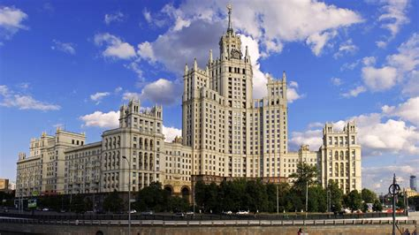 Beautiful Building, Architecture, Moscow, Russia Hd