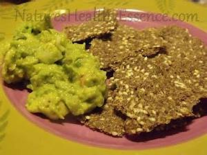 Guacamole with Flax Seed Crackers - Candida diet recipes - Pinterest  Thrush Flaxseed