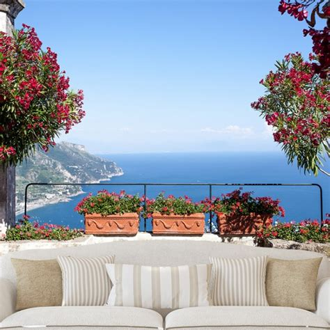 amalfi coast landscape wall mural wallpaper