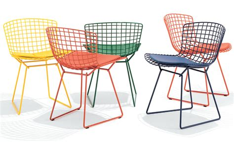 bertoia side chair with seat cushion hivemodern