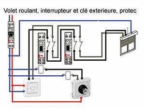 Branchement Volet Roulant électrique : comment brancher un contacteur a cle pour volet roulant ~ Melissatoandfro.com Idées de Décoration