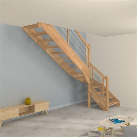 escalier bois quart tournant escalier quart tournant en bois et inox o 233 ba
