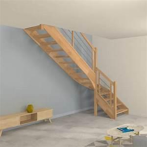 Escalier Bois Quart Tournant : escalier quart tournant en bois et inox ~ Farleysfitness.com Idées de Décoration