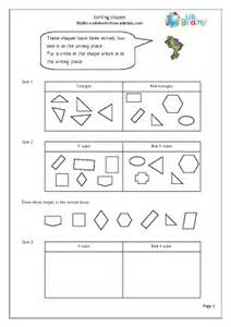 2D Shape Sorting Worksheet