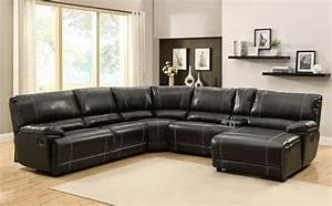 the best reclining leather sofa reviews leather reclining With homelegance black leather reclining sectional sofa chaise recliner