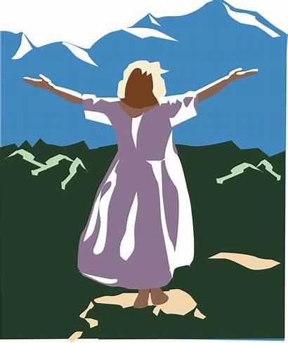 Praise God Woman Praising Clipart Silhouette Arms