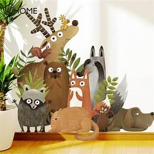 Forest, Animals, Elk, Fox, Rabbit, Wall, Stickers, For, Kids, Room, Children, Wall, Decal, Nursery, Bedroom