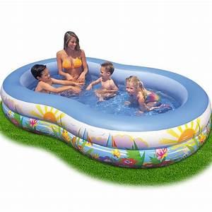 Piscine Gonflable Pas Cher Gifi : piscine gonflable ovale 262x160x46 cm achat vente ~ Dailycaller-alerts.com Idées de Décoration