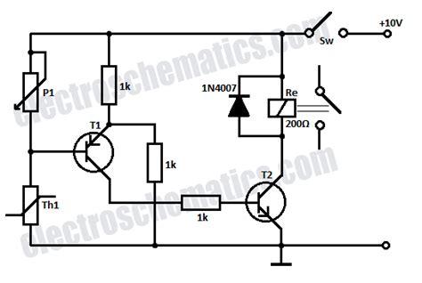 Temperature Relay Circuit Control