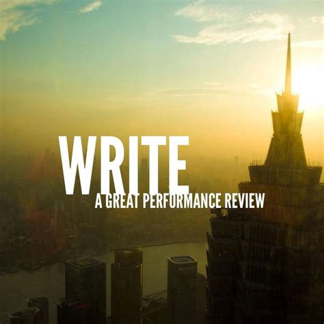 write  great performance review  images