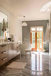 Déco Salle De Bains : carrelage salle de bain grise et bois en 37 id es de d co ~ Melissatoandfro.com Idées de Décoration