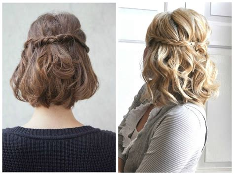 ideas  prom updos  short hair
