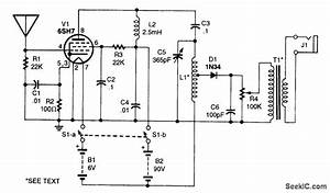 one tube am receiver communication circuit circuit With am receiver circuit