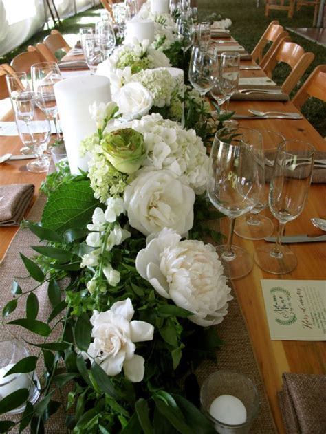 Floral Table Runner Vermont Wedding Flowers Floral