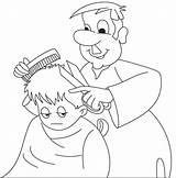 Barber Coloring Pages Colouring Clipart Hair Cutting Cartoon Professions Printable Getcolorings Webstockreview Getdrawings sketch template