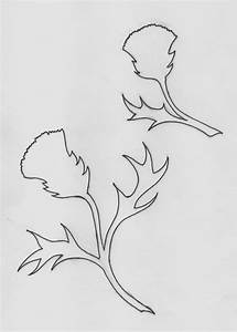 Foxes Ridge  Thistles Paper Cut And Free Template